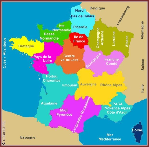 Art antiquités en France, carte de france Art Antiquités,